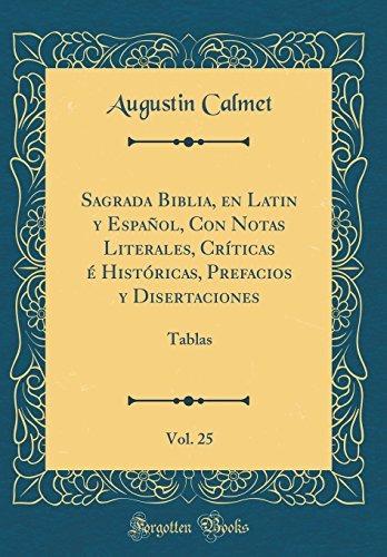 Libro Sagrada Biblia, En Latin Y Espanol, Con Notas Litera