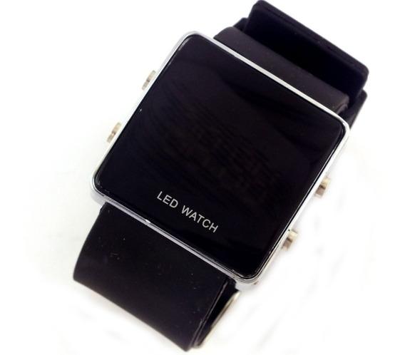 Relógio De Pulso Masculino Tela Led Pulseira Borracha B5661