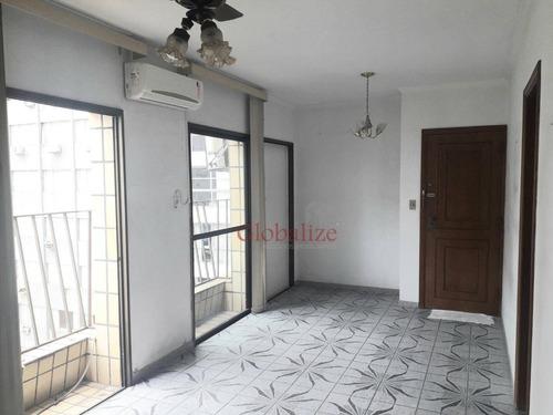 Apartamento Com 2 Dormitórios À Venda, 90 M² Por R$ 510.000,00 - Boqueirão - Santos/sp - Ap0193