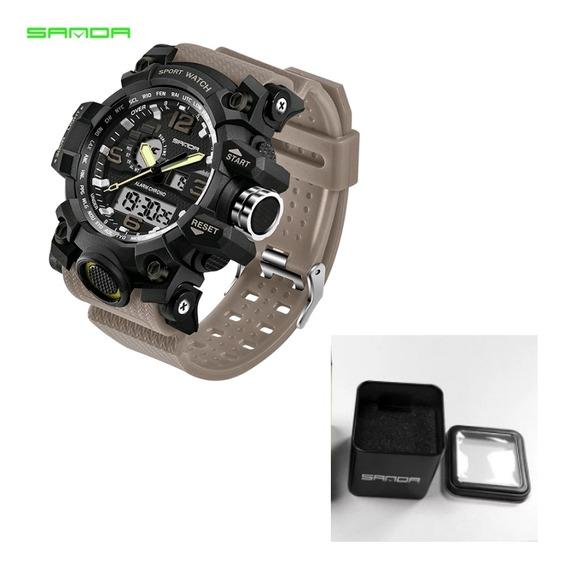 Relógio Esportivo Militar Sanda Modelo 742 S Shock Grande