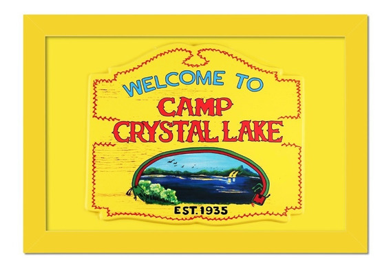 Quadro Jason Voorhees Welcome To Camp Crystal Lake
