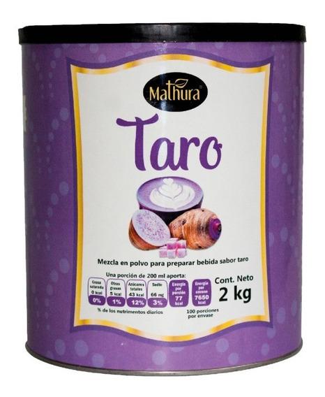 Taro En Polvo 1 Lata De 2kg Marca Mathura