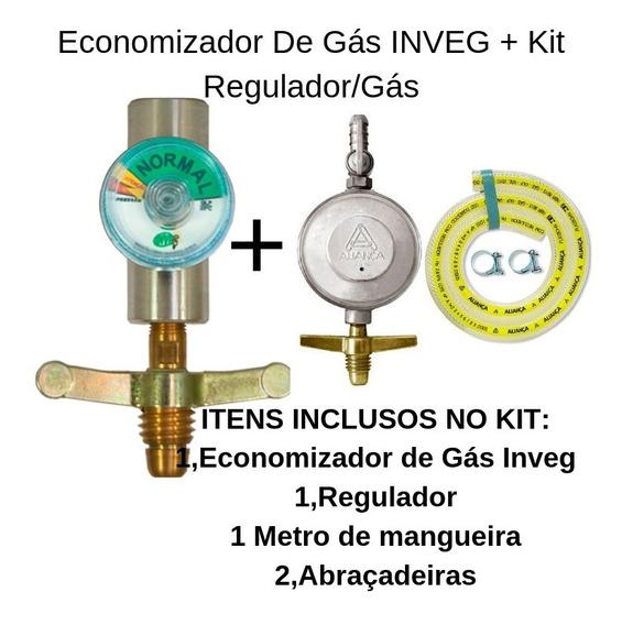 Economize Mais 35% C/economizador De Gás+kit Regulador/gás