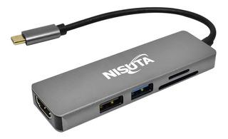 Adaptador Hub Usb C A Usb 3.0 Hdmi 4k Pc Macbook Thunderbolt