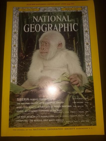 Revista National Geografhic Americana Março De 1967