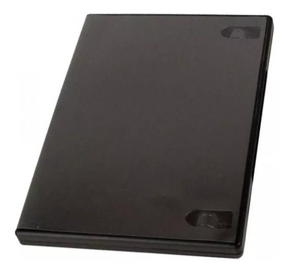 20 Unidades Porta Dvd Capa Box Preto