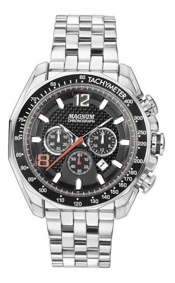 Relógio Masculino Magnum Analogico Cronografo Ma32167w Prata