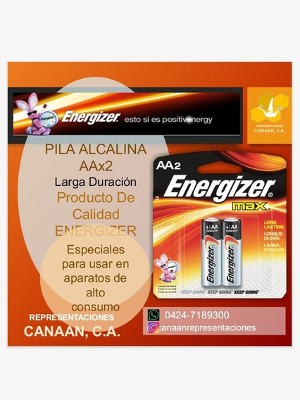 Pilas Aaa Pilas Aa.. Energizer. Larga Duración