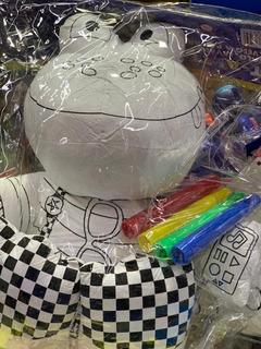 Muñeco Para Pintar Sapo Lavable C/fibras Arte Peluche