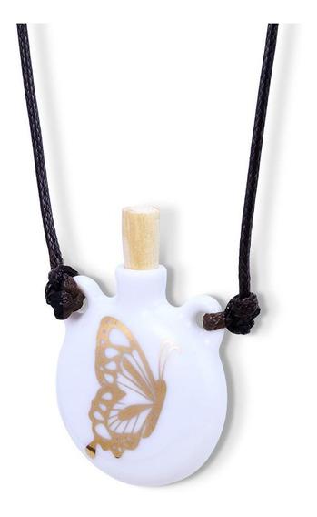 Colar Difusor Aromaterapia Pessoal Ou Porta Perfume Borbolet