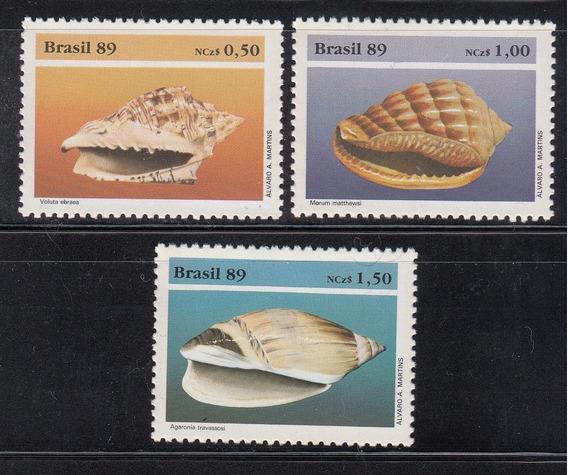 Brasil 1989 Caracoles Serie Completa Mint