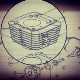 Cilindro Tvs Completo Kit Piston Y Rines