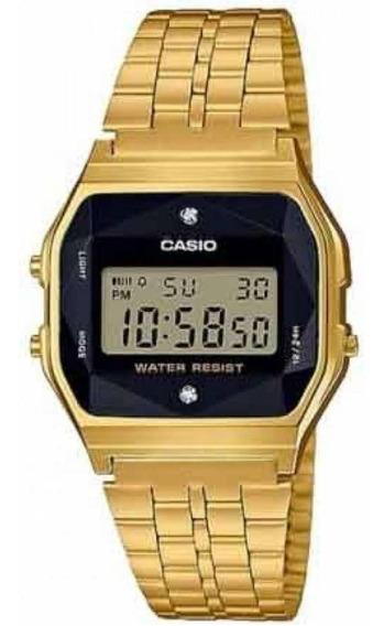 Relógio Casio Vintage A159wged-1df Diamond Nota E Garantia