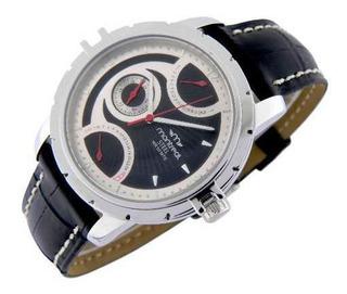 Reloj Montreal Hombre Acero Multifunción Ml302 Envío Gratis