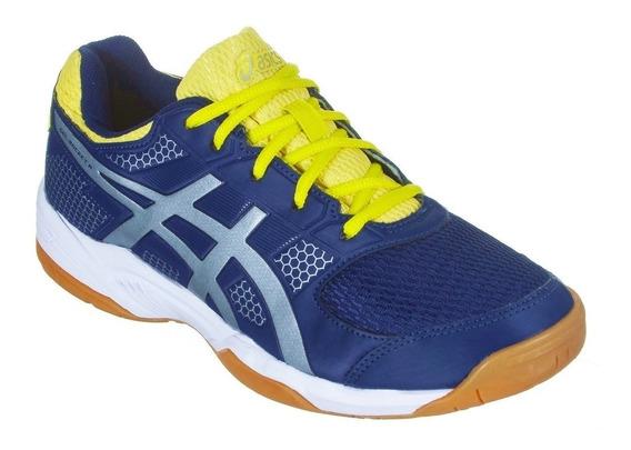 Tênis Asics Gel Rocket 8 A Indigo Blue Vôley Squash Futsal