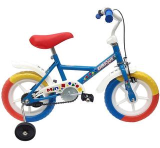 Bicicleta Rodado 12 Varon Rueditas + Freno + Guardabaros
