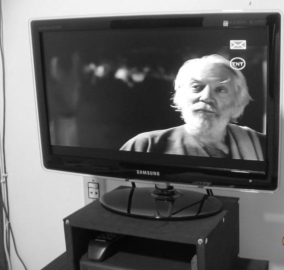 Tv Monitor 22 Pol Samsung Com Suporte De Parede Novo.