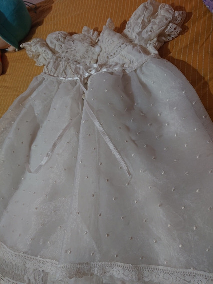 Vestido Fiesta Bautismo Nena Año Blanco