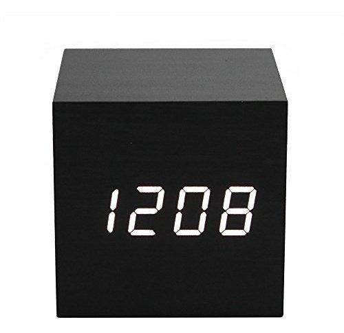 Reloj Digital Despertador 3 Alarmas Control De Voz Y Brill
