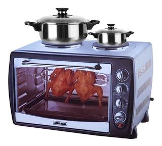Cocina 2 Hornallas Horno 42 Lts Con Spiedo Bram Metal