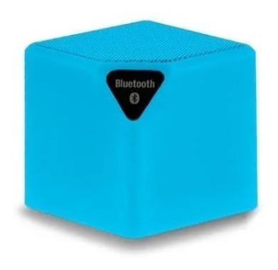 Caixa De Som Speaker 3w Luz De Led Conexão Auxiliares Azul
