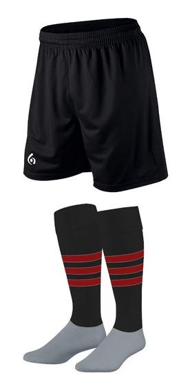 Kit X 10: Shorts + Medias Stripes Gol De Oro Pro Elite