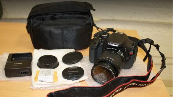 Canon T3i +lente 18-55mm + Bolsa P/ Transporte. A Vista 1300