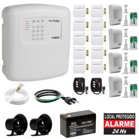 Alarme Residencial Ecp Sem Fio 14 Sensores Com Discadora