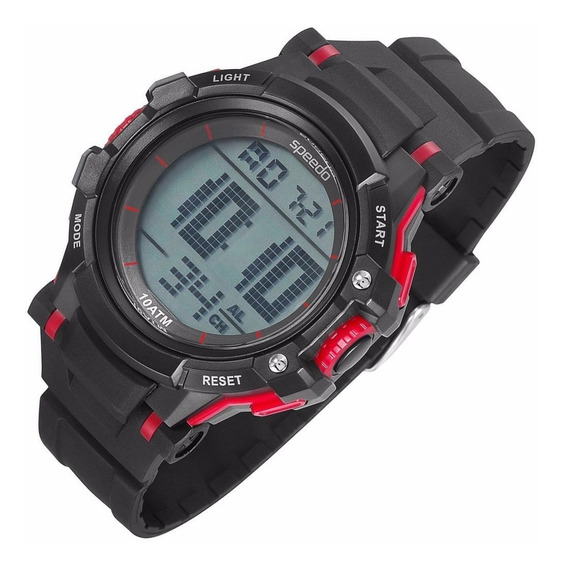 Relógio Speedo Lifestyle Digital Alarme 81069g0egnp1 Cronôme