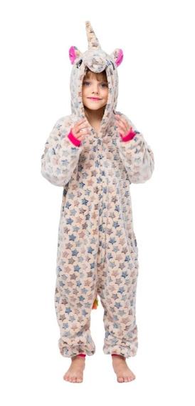 Mameluco Pijama Unicornio Crema Estrellitas Infantil