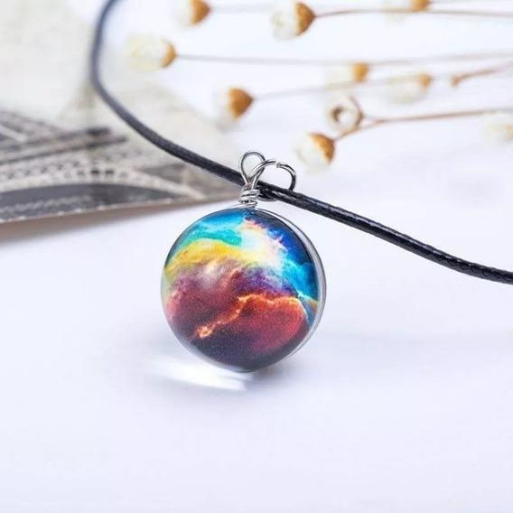 Collar Circular Con Diseño De Nebulosa Bonito Diseño