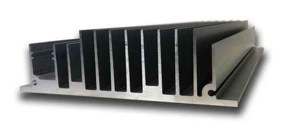 Disipador Aluminio Anodizado 300w Led Base 14 X 27 Cm.