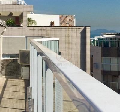 Cobertura Com 4 Dormitórios À Venda, 346 M² Por R$ 1.300.000 - Aparecida - Santos/sp - Co0073