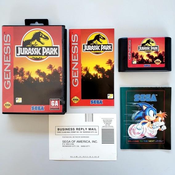 Jurassic Park Cib Completa Original Mega Drive Sega Genesis
