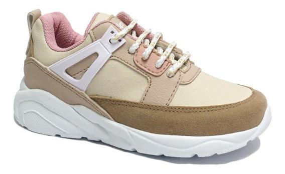 Zapatillas Nena Kickers Sneakers Cordon Livianas 27/38 Slash