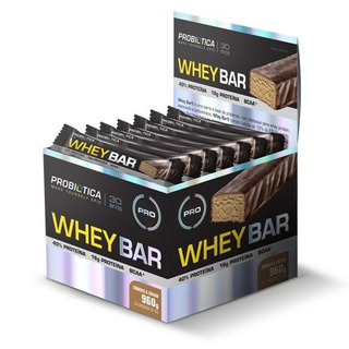 Whey Bar High Protein - Cookies Cream 24 Unid. - Probiótica