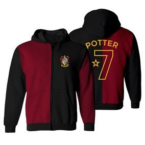 Moletom Harry Potter Quadribol Blusa Canguru Bordado Unissex