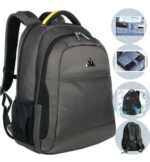 Mochila Masculina Semi Impermeavel Notebook Original