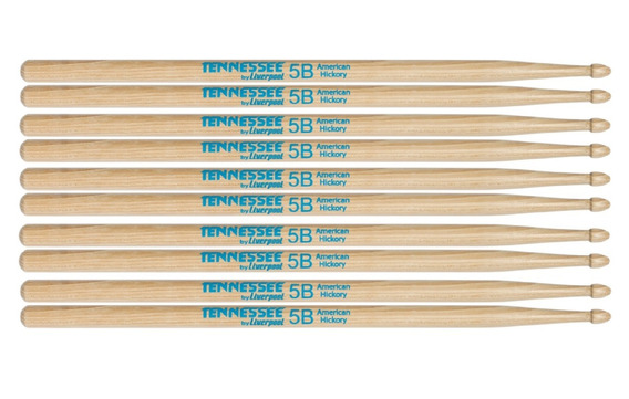 5 Pares Baqueta American Hickory Tennessee 5b Liverpool Tnhy