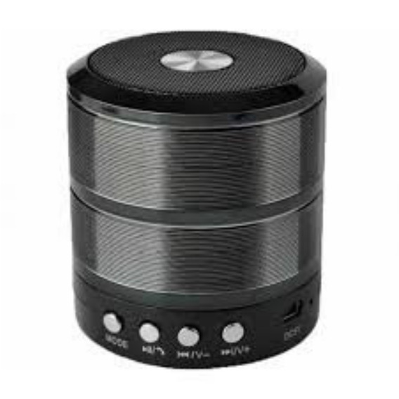 Caixa De Som Mini - Usb/bluetooth/sd Portátil Speaker Ws-887