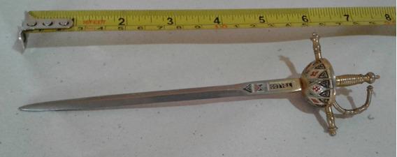 Cortador De Papel - Enfeite Antigo Formato Espada, Espanhol
