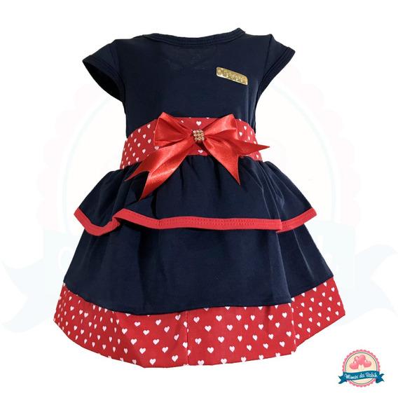 Vestido Bebê Baby Renda Strass Laço Rn A 6 Meses Infantil