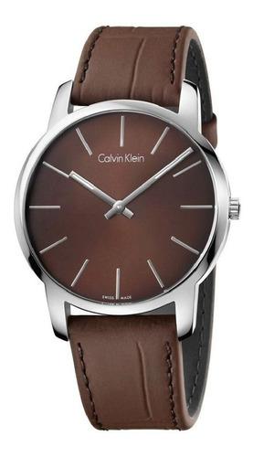 Relógio Masculino Calvin Klein   Pulseira De Couro Original