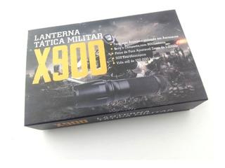 Lanterna Tática X900 Longo Alcance Recarregável Na Caixa