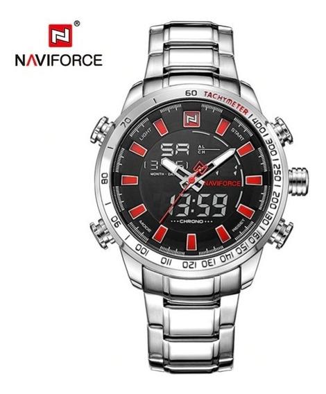 Relógio Masculino Naviforce 9093 Digital E Analógico Orig