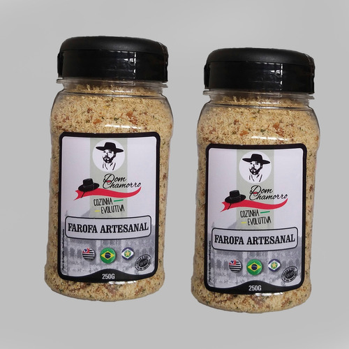Kit 02 Farofas Natural Com Ervas & Sabor Bacon Dom Chamorro