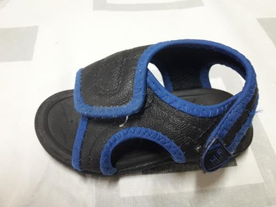 Sandalia Hush Puppies Cuero Azul Marino Y Francia - Talle 21