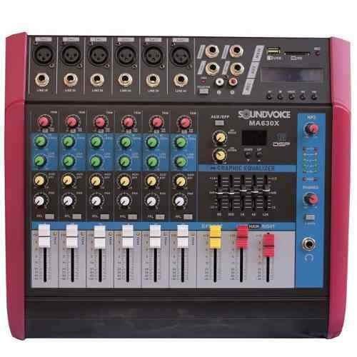 Mesa Som Amplificada 500w Ma630x 6ch Mono Soundvoice
