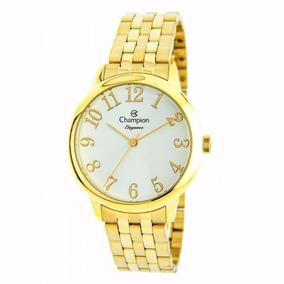 Relógio Champion Feminino Dourado Elegance Cn26162h Original