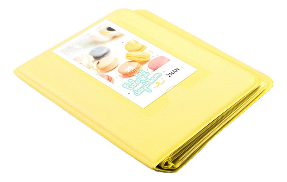 Amarelo 64 Bolsos 3 Polegadas Livro Páginas Álbum Foto Par